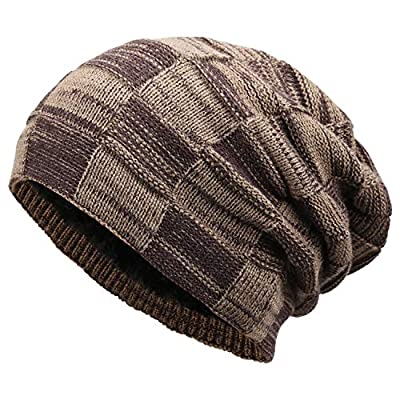 FZ FANTASTIC ZONE Winter Beanie Hat for Men and Women Warm Knit Hats Slouchy Thick Skull Cap