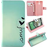 HTC E8 Case,Enjoy Sunlight HTC One E8 Case [Kickstand Feature] Luxury Wallet PU Leather Folio Wallet Flip Case Cover Built-in Card Slots for HTC One E8 Case[Smile] with 1 Stylus Pen