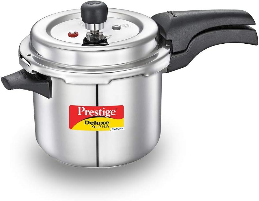 Prestige PRASV3.5 PRESSURE COOKER, 3.5 Liter, SILVER