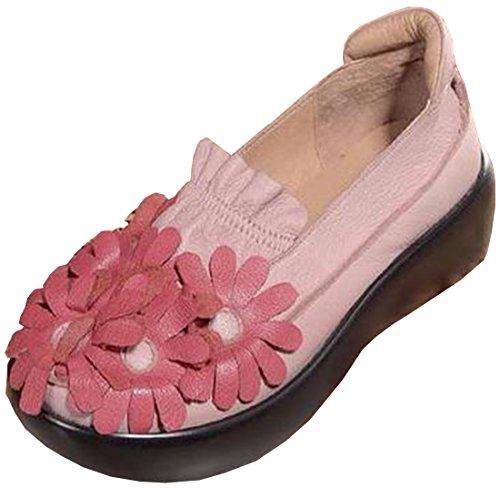 Pinkred Delle Con Scarpe Zeppa Donne Laruise In Pelle La fwdXd8