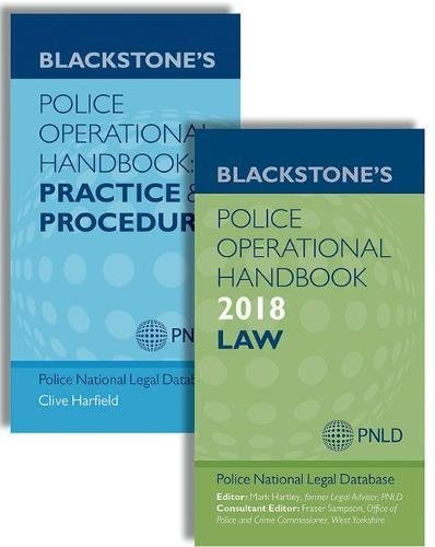 Blackstone's Police Operational Handbook 2018: Law and