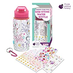 A kids water bottle that has major WOW factor for kids and parents: our BPA free water bottle is a great craft kit water bottle for girls and boys. Kids can create a beautiful custom water bottle that they'll be proud of. Comes with HUNDREDS ...
