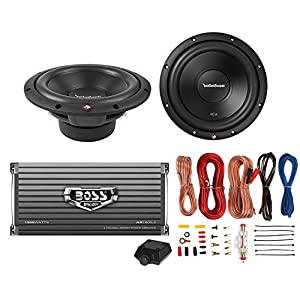 "2) Rockford Fosgate R2D4-12 12"" 1000W 4-Ohm Car Subs + 1600W 2-Ch Amp + Amp Kit"
