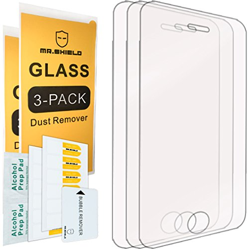 [3-PACK]-Mr Shield For iPhone 3G / 3GS [Tempered Glass] Screen Protector with Lifetime Replacement - Replacement Screen Iphone 3g