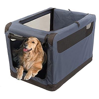 "Favorite 36"" Soft Sided Pet Carrier, 2 Doors, Indoor Outdoor Dog Kennel, Travel Vet Visit Collapsible Soft Dog Crate"