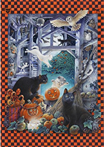 Wentworth Halloween with Lesley's Cats Wooden 250 Piece Jigsaw Puzzle ()
