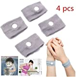 M400 Polar Band Best Deals - 4pcs Reuseable Prevent Carsickness Nausea Seasickness Travel Wrist Bands by STCorps7