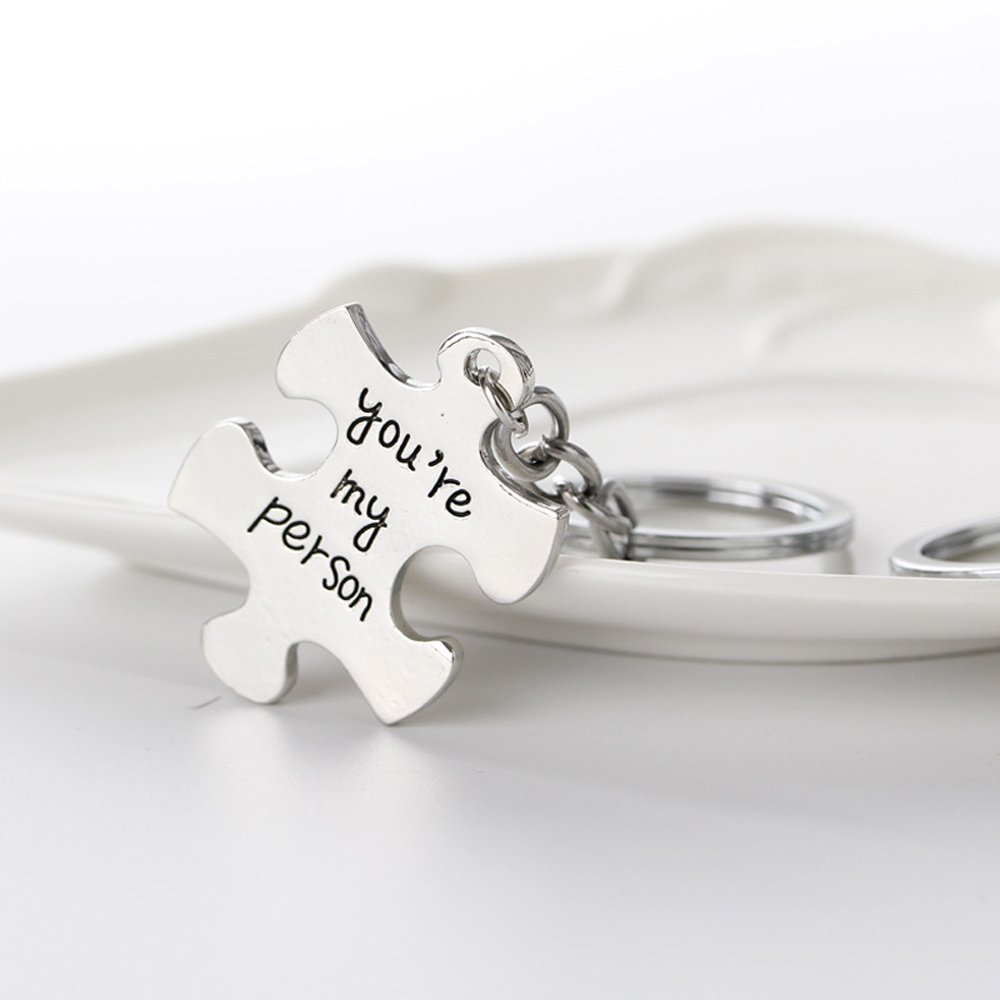 2pcs/Set You're my person Best Friends Lovers Couples Key chains Keychain Jewelry Set Chinese Supplier