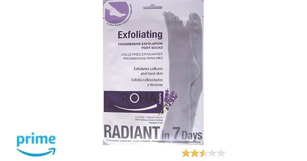Iroha Nature Calcetines Exfoliantes lavanda - Bolsa exfoliante, 1er Pack (1 x 2 piezas): Amazon.es: Belleza