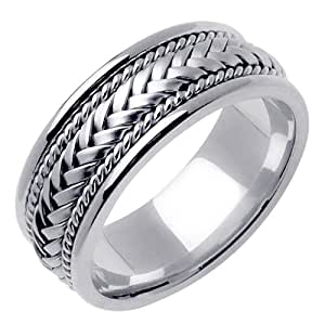 Amazon.com: Sterling Silver Hand Braided Wedding Ring Band