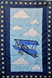 Airplane (COMFORTER ONLY) 100% Polyester Fiber Filled Batting Size TODDLER Boys Girls Kids