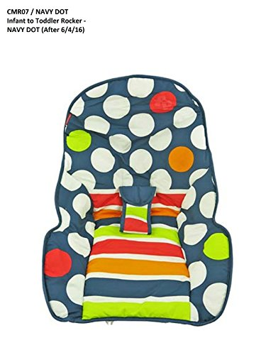 Fisher Price INFANT / NEWBORN TO TODDLER ROCKER Sleeper Replacement Seat Pad , CMR07 NAVY DOT AFTER 6/4/16