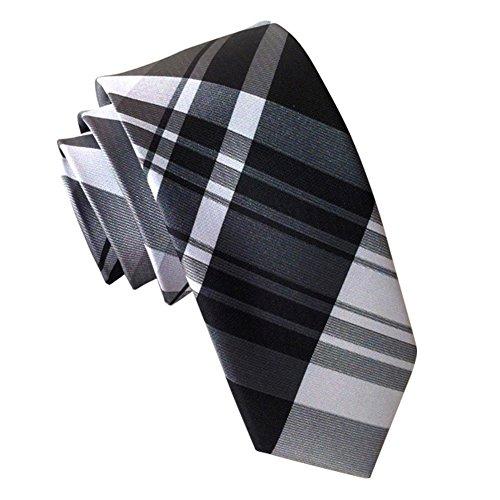 Gold Green Stripe Silk Necktie - Mens Plaid Checks Woven Silk Tie Neck Tie Business Plaid Jacquard Skinny Necktie t-19-10