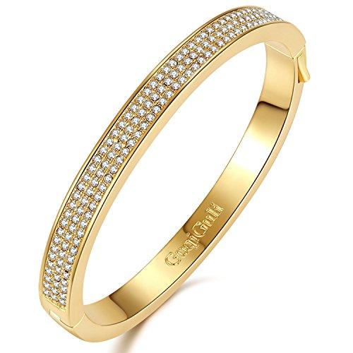 Yellow Gold Fashion Bangles - 2