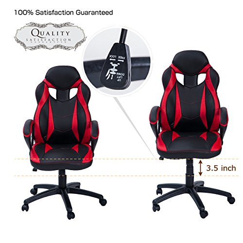 Merax Ergonomic Racing Style Leather Chair for Office