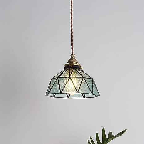 Amazon.com: Lámpara colgante de cristal, creativa lámpara de ...