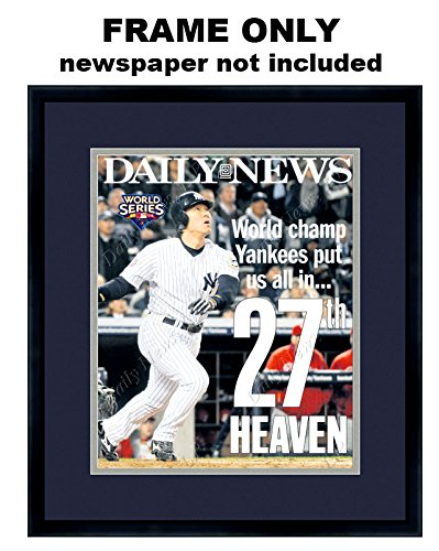 - The Daily News Newspaper Frame - with New York Yankees Colors Double Mat
