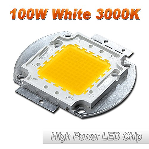 Hontiey High Power LED Chip 100W Warm White Light 3000K-3500K Bulbs 100 Watt Beads DIY Spotlights Floodlight COB Integration Lamp SMD
