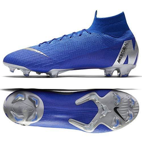 Nike Mercurial Superfly VI 6 Elite FG AH7365-400 Racer Blue/Silver Men's Soccer Cleats (10.5) (Nike Elite Soccer)