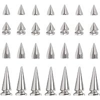 Sweieoni Metalen Bullet Klinknagel 170 Stks Klinknagel Punk Spike Punk Spikes Klinknagel Cone Spikes Stud Spike Studs…