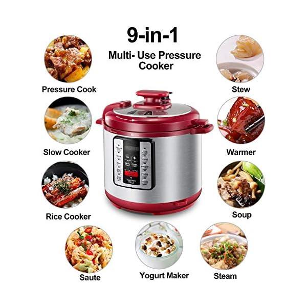 Electric Pressure Cooker ICOOKPOT 9-in-1 Multi- Use Programmable Smart Pressure Cooker, Slow Cooker, Yogurt Maker, Rice… 7