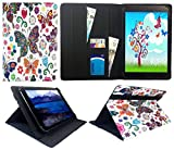 Sweet Tech ANOC 10.1 Inch Android Tablet Multi Butterfly Universal Wallet Case Cover Folio (10-11 inch)