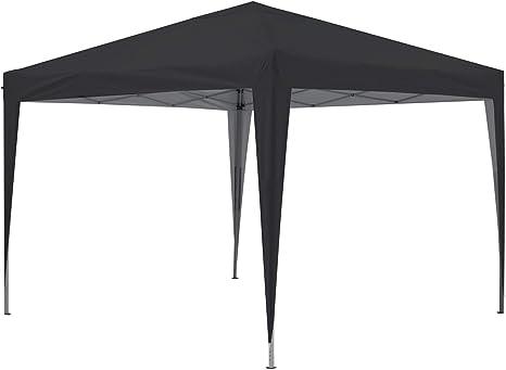 GREADEN - Cenador de jardín negro 3 x 3 m Eco Briso - Tubo 30 mm en aluminio & acero - lona 420d - Tienda de campaña plegable - GR-1FZ33420AO2