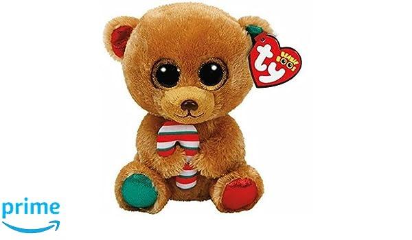 Ty Beanie Boos Navidad Bella-Osita Marrón 23 cm (37251TY), Color, Verde, Rojo (United Labels Ibérica: Amazon.es: Juguetes y juegos