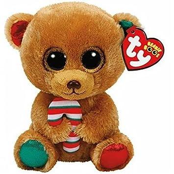 Ty Beanie Boos Navidad Bella-Osita Marrón 23 cm (37251TY), Color,