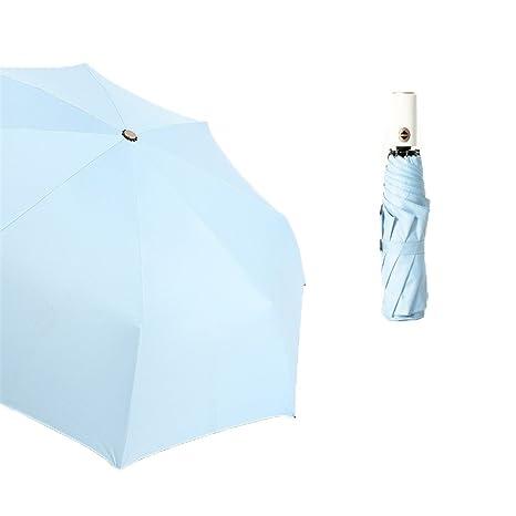 Guoke Creative Soleado Sol Paraguas Paraguas Niñas Paraguas Paraguas Uv Vinilo Tríptico Con Dos Paraguas,