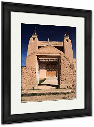 Ashley Framed Prints San Jose De Gracia Catholic Church In Las Trampas Along The High Road To Taos, Wall Art Home Decoration, Color, 40x34 (frame size), Black Frame, AG6533314 by Ashley Framed Prints