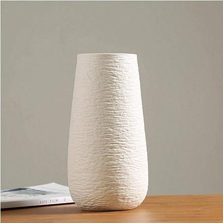 Asbjxny New Modern White Vase Ceramic Vase Home Decoration Accessories Dry Flower Modern Minimalist Literary Vase For Flower Home Decor B Amazon Co Uk Kitchen Home