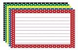 TOP3667 - BORDER INDEX CARDS 3X5 POLKA DOT