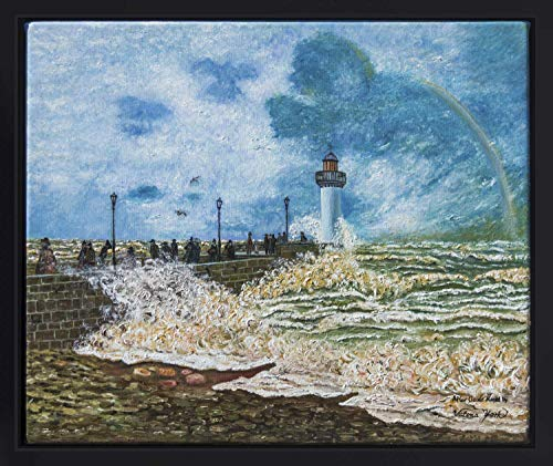Promenade Oil Painting - The Jetty at Le Havre, 17