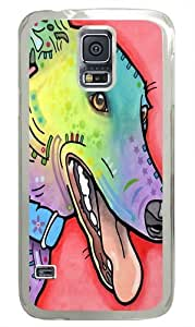 graceful greyhound Custom Samsung Galaxy S5/Samsung S5 Case Cover Polycarbonate Transparent