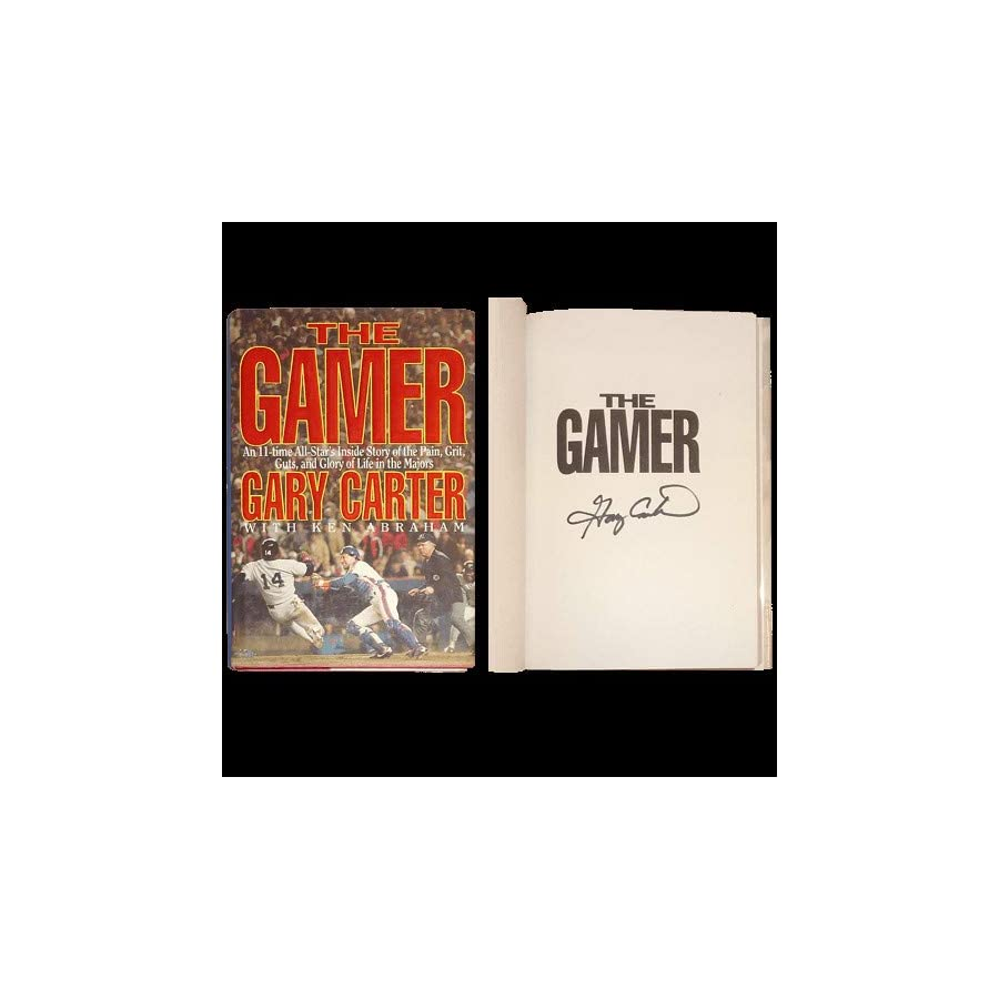 Gary Carter Autographed Signed Auto Book The Gamer Certified Authentic