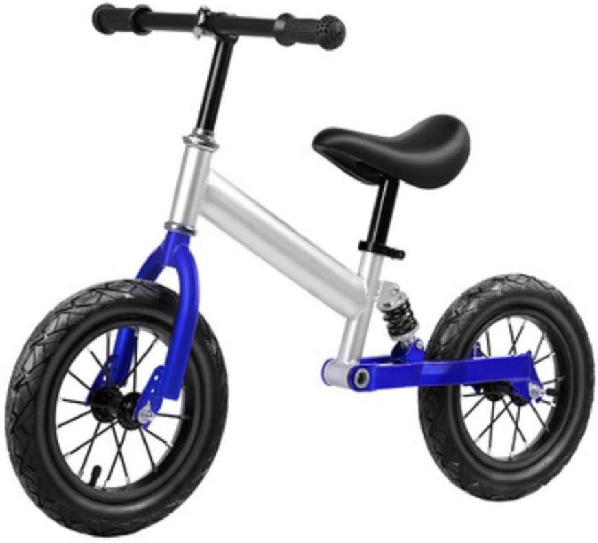 MENGLJ Bicicleta Equilibrada Adecuada para Niños De 2 A 5 Años Bicicletas Bicicletas Sin Pedales De Aluminio para Niños,Silverblue