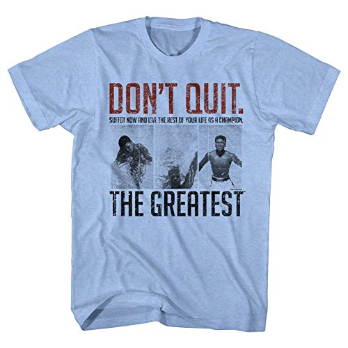 Live Adult T-shirt - Muhammad Ali Don't Quit Suffer Now and Live Life as a Champion Adult T-Shirt Tee