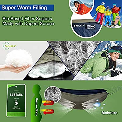 onewind Underquilt Hammock Underquilt for Hammock Camping Quilt Lightweight Sleeping Bag Portable (UDQ2113OD-LW): Sports & Outdoors