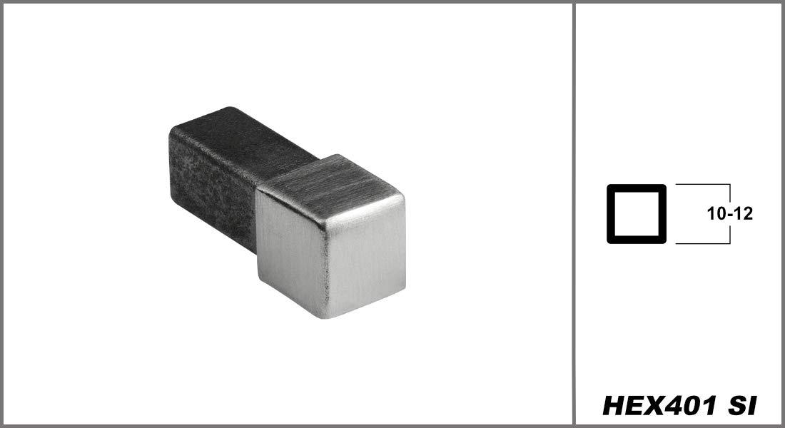 Quadrat Edelstahl HEXIM HEX401 SP Eckst/ück 10mm