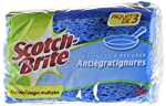 3M Scotch-Brite No-Scratch Multi-Purpose Scrub Sponge, 3 Count