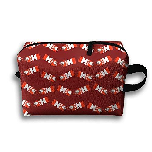 Christmas Crackers Cosmetic Bags Makeup Organizer Bag Pouch Zipper Purse Handbag Clutch Bag