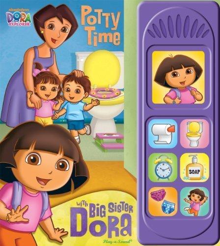 Nickelodeon Dora the Explorer Sound Book: Potty Time with Big Sister Dora by Kathy Broderick, Editors of Publications International Ltd. (Brdbk Edition) [Boardbook(2011)] ()