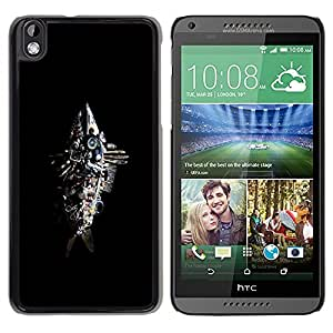LECELL -- Funda protectora / Cubierta / Piel For HTC DESIRE 816 -- Abstract Junk Fish Sculpture --