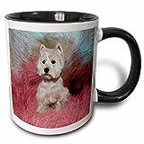 3dRose Dogs West Highland Terrier - Westie - 11oz Two-Tone Black Mug (mug_4054_4)