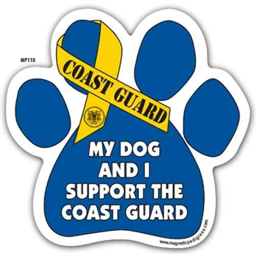 My Dog and I Support the Coast Guard Paw Magnet