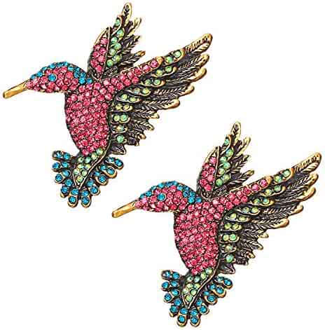 949b69a99 RINHOO FRIENDSHIP Cute Birds Brooches Pin Crystal Oil Painting Enamel  Hummingbird Swallow Colorful Bird Shape Corsage