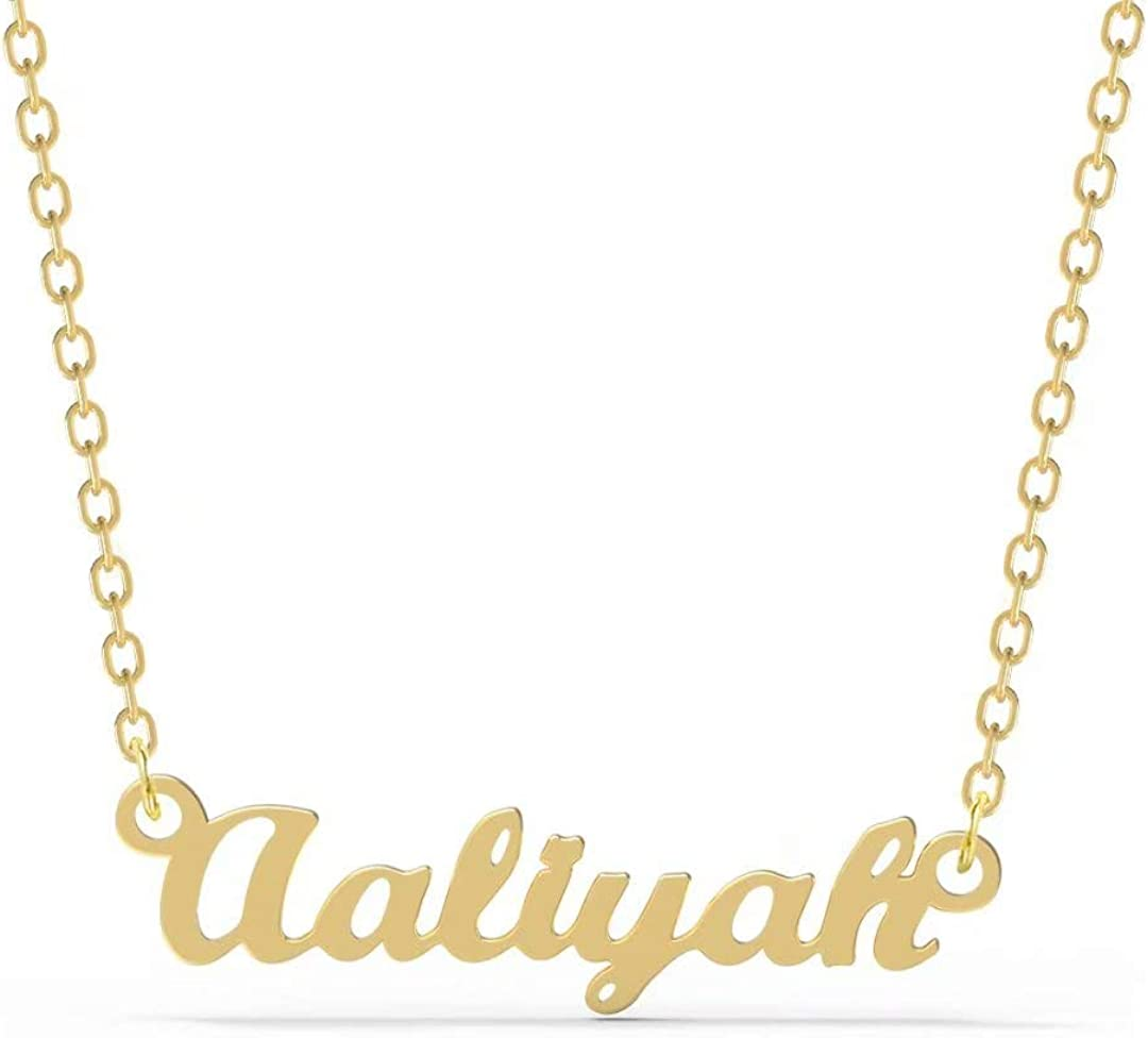 Ldurian Name Necklace Birthday Gift for Women Personalized Dainty Initial Name Necklace Chain Customized Name Pendant