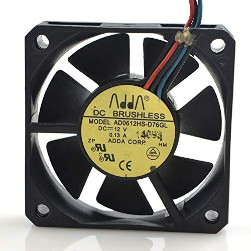 for ADDA 6015 AD0612HS-D76GL DC12V 0.13A Three-Wire Cooling Fan