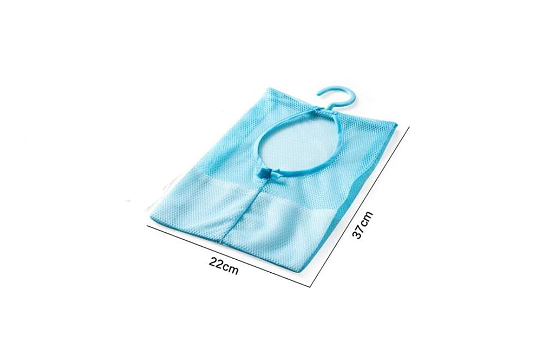Guter Helfer Hanging Multi-Purpose Storage Net Tasche Spielzeug Net Bag Küche Badezimmer Lagerung Bag_Blue PvxgIo